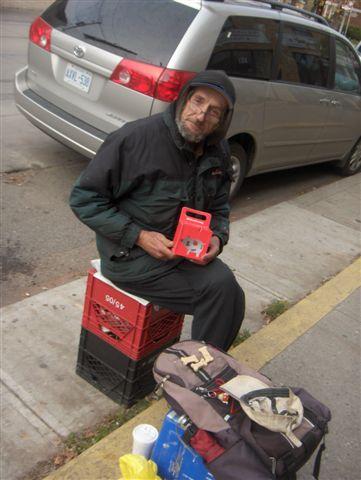Tony wih GiveMeaning box