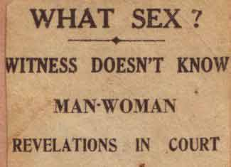 What sex?