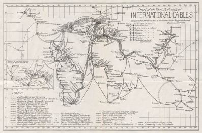 World map of communications 1924