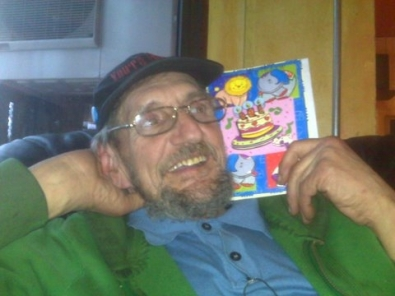 Tony and birthdaycard