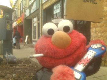 Elmo and cigarette