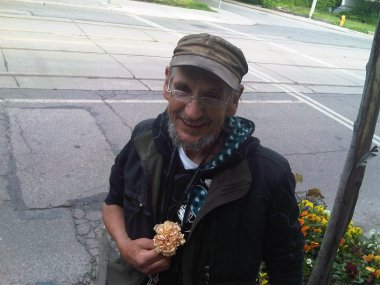 Tony with carnation - June 23 2009