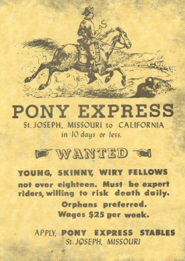 Pony Express poster - Nov 5 2009